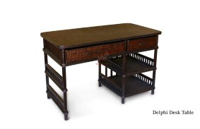 Delphi Rattan Desk Table