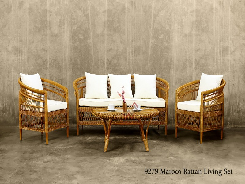 eco friendly living room furniture detail product maroco rattan set indonesia rattan rattan 21749
